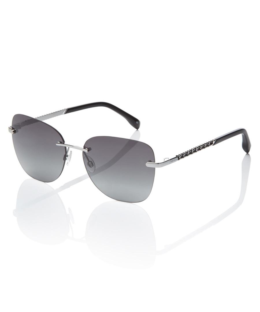c6c819ed3f8 Silver-tone   grey rimless sunglasses Sale - Karen Millen Sale