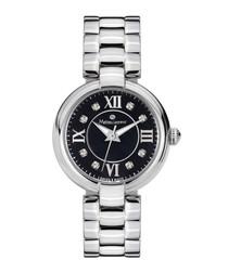 Fleur du Matin silver-tone & black watch