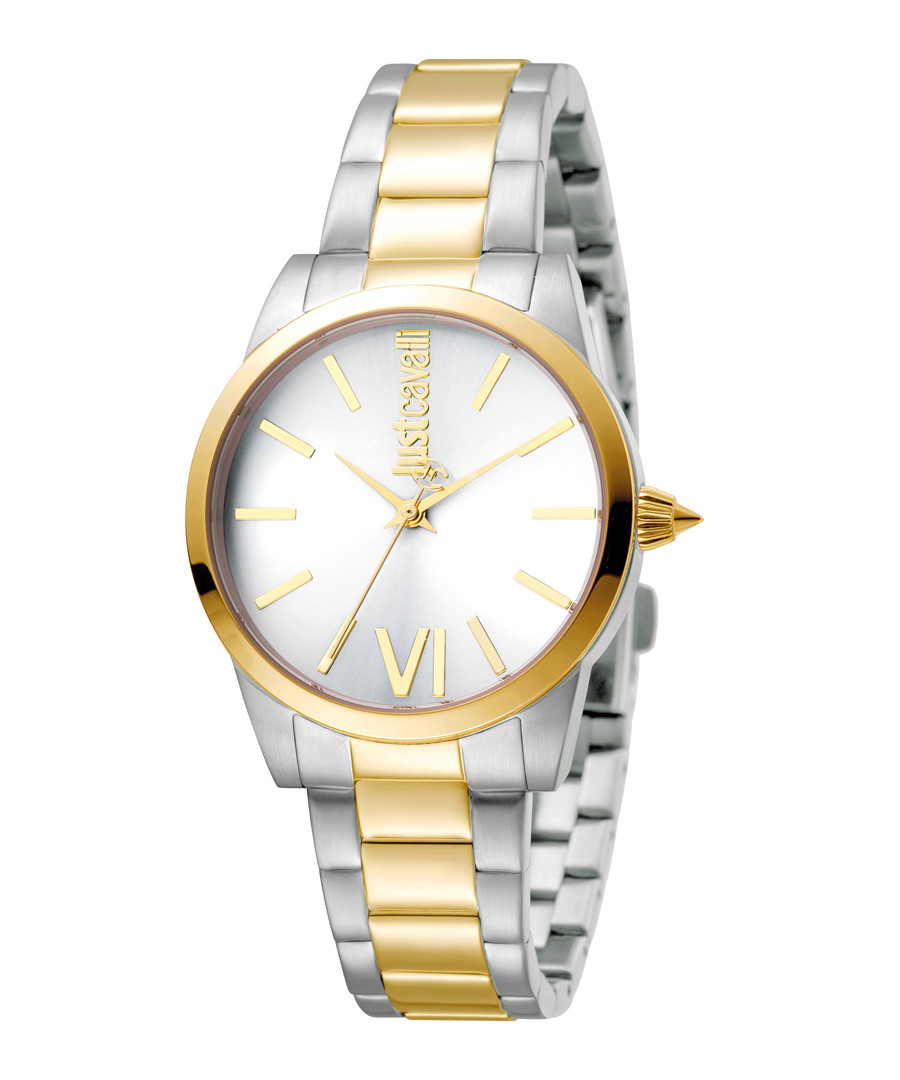 Dual-tone stainless steel watch Sale - JUST CAVALLI