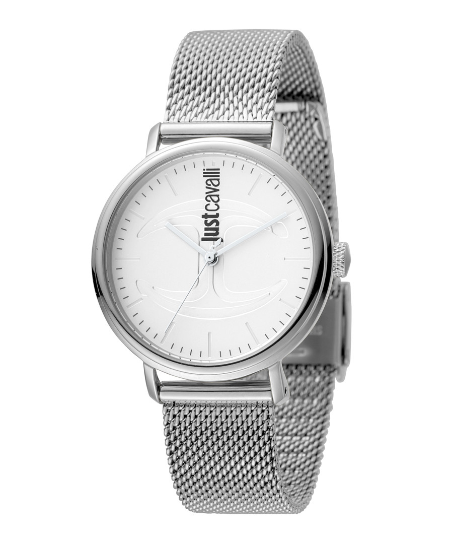 Silver-tone stainless steel mesh watch Sale - JUST CAVALLI