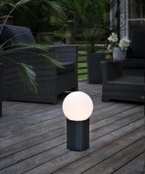 Rattan solar energy outdoor globe 20cm