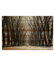 Tree Path pine wood print