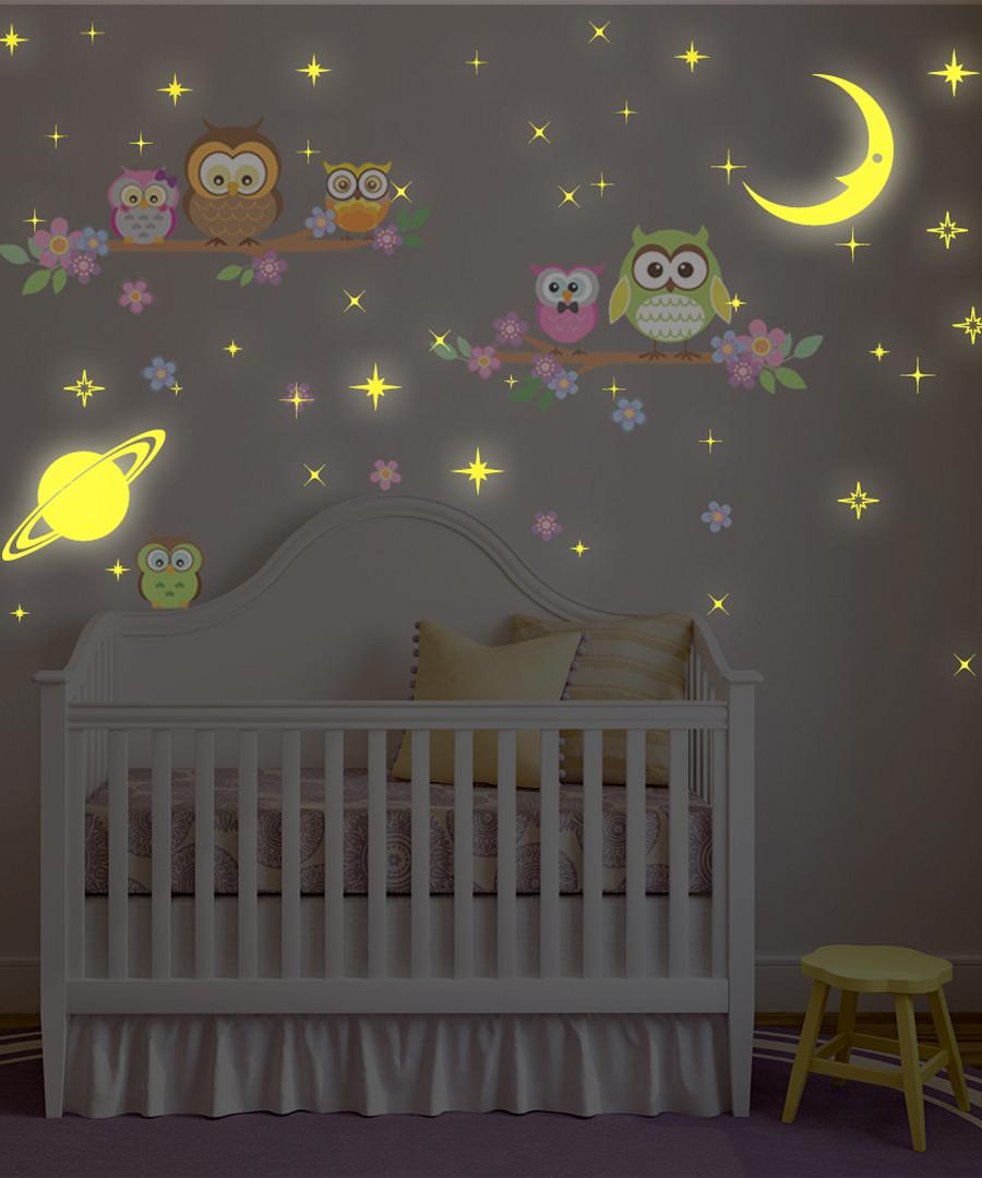 Owls glow in the dark wall stickers Sale - Walplus