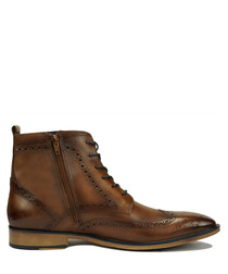 Alexander light brown leather boots
