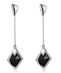 Dawn 18ct white gold-plated earrings