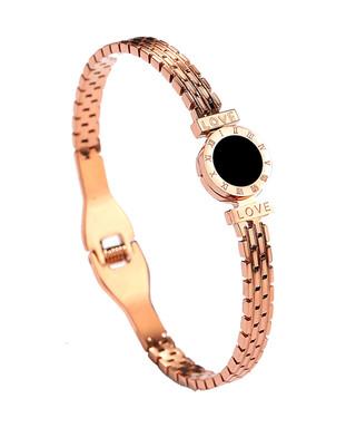 a364e549038 Caromay Jewellery. Roman 18ct rose gold-plated bracelet