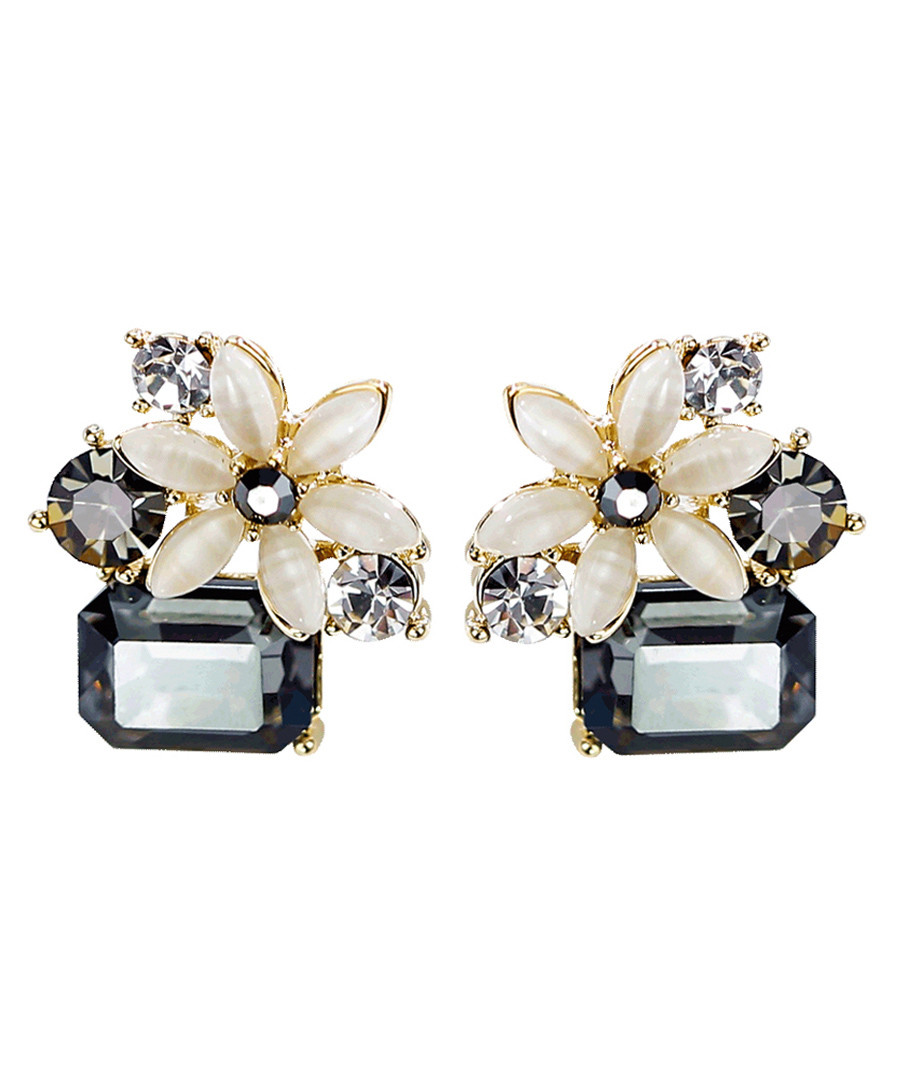 Cold Flower 18ct gold-plated earrings Sale - caromay