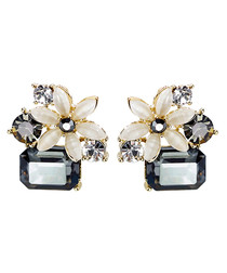 Cold Flower 18ct gold-plated earrings