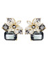 Cold Flower 18ct gold-plated earrings Sale - caromay Sale