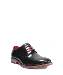 Alfred black leather Derby shoes