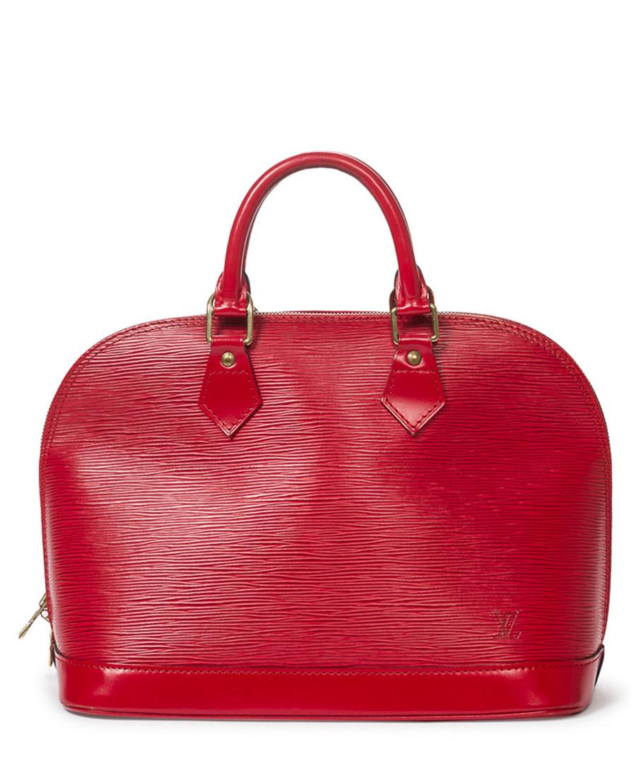 Alma MM red Epi leather grab bag Sale - vintage louis vuitton