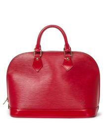 Alma MM red Epi leather grab bag