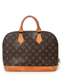 Alma MM brown & tan monogram bag