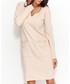 Nude cotton blend pocket dress Sale - numinou Sale