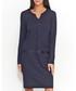 Navy cotton blend trim detail dress Sale - numinou Sale