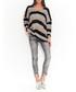 Grey & black V-neck jumper Sale - numinou Sale
