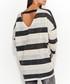 Graphite & beige V-neck jumper Sale - numinou Sale