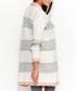 Light grey & salmon striped cardigan Sale - numinou Sale
