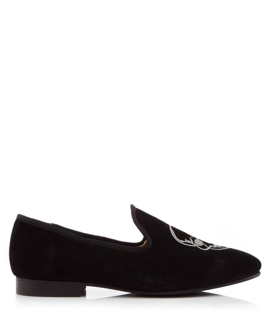 Black suede embroidered loafers Sale - KG Kurt Geiger