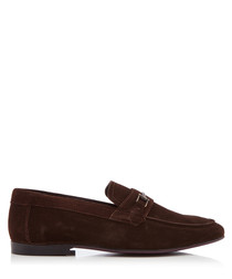 Melton 2 brown suede loafers