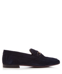Melton 2 navy suede loafers