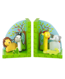 2pc Safari wooden bookends