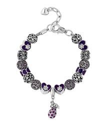 Treasure black beaded crystal bracelet