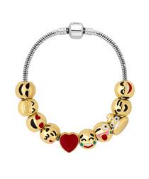 Treasure 14ct gold-plated emoji bracelet