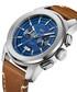 Mohawk blue & brown leather watch Sale - jbw Sale