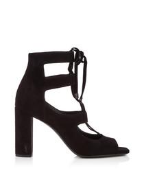 Lou Lou 95 black suede sandals
