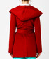 Red cotton blend robe coat Sale - Armodia Sale