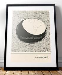 Emily Bronte framed print