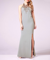 Vanessa grey embellished maxi dress