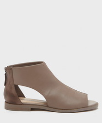 Sterling brown leather cut-out sandals
