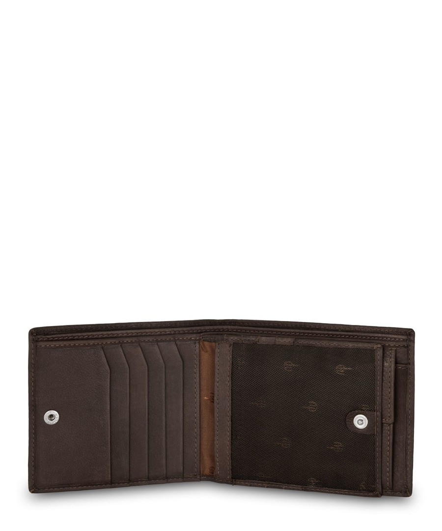 3d1ea61191ce ... Dudu  Man s Nappa Luxury leather wallet with coin purse with DV logo Dark  Brown Sale - ...