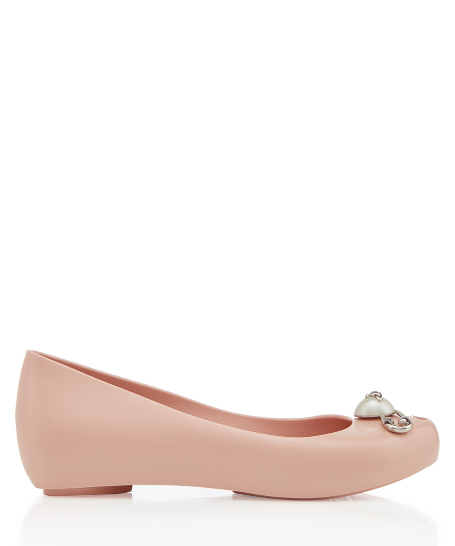 Ultra Girl pale pink ballet flats Sale - melissa shoes