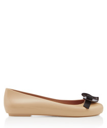 Space Love sand heart ballet flats