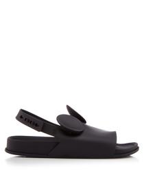 Black peeptoe ears sandals