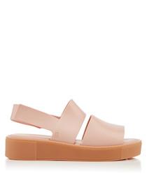 Soho blush flatform sandals