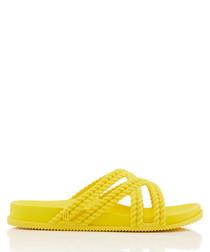 Salinas Cosmic yellow braided sandals