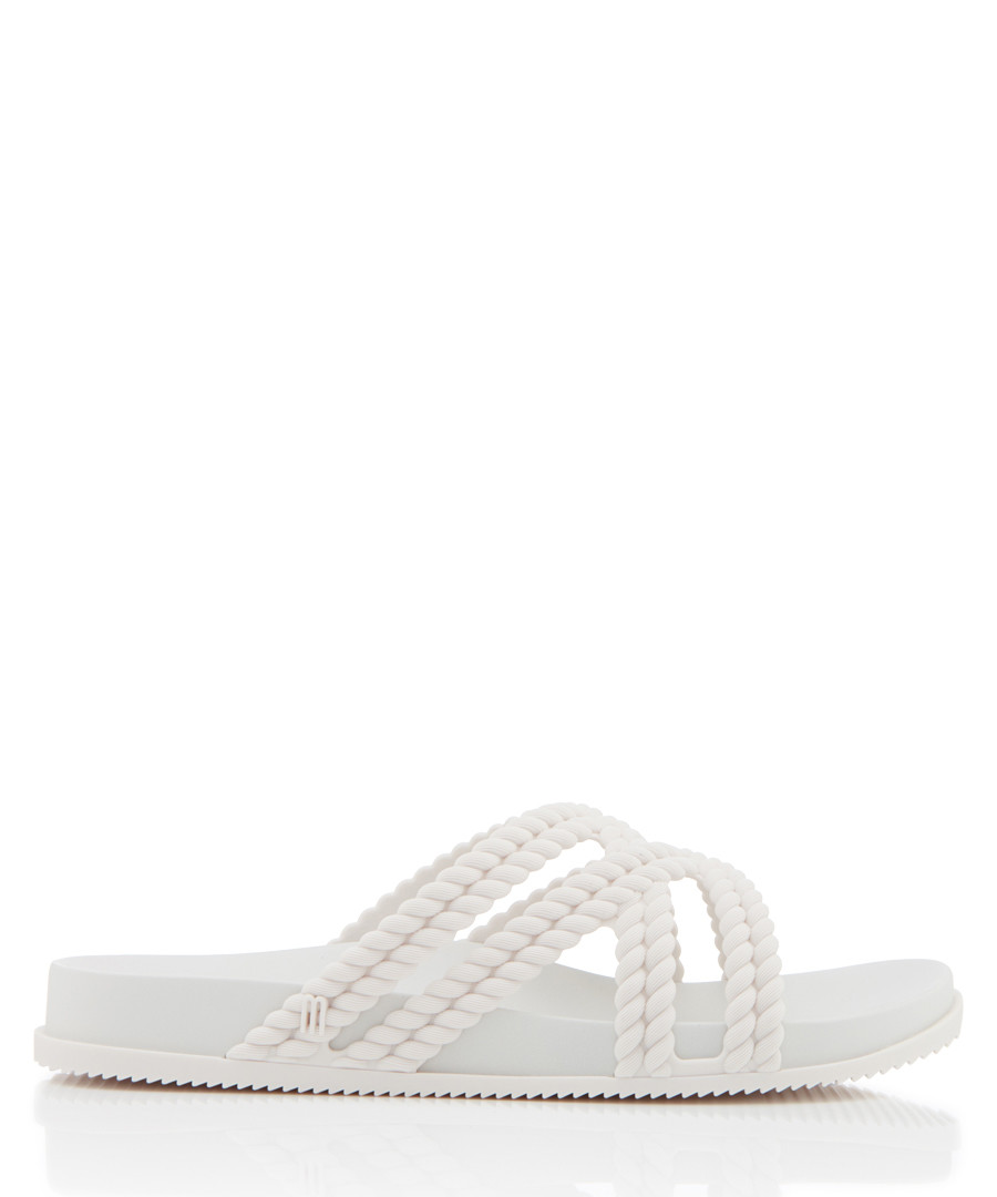 Salinas Cosmic white braided sandals Sale - melissa shoes