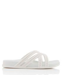 Salinas Cosmic white braided sandals