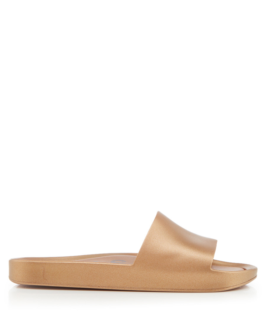 Shine gold-tone rubber sandals Sale - melissa shoes