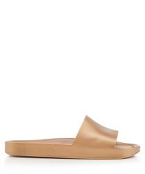 Shine gold-tone rubber sandals