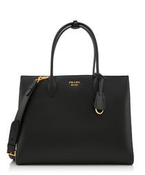 Bibliothèque black & grey leather bag