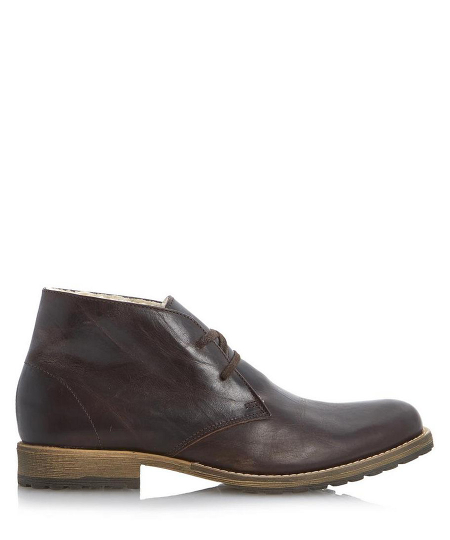 Columbo dark brown leather desert boots Sale - dune