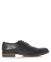 Brummie black leather Derby shoes
