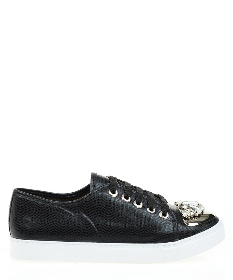 Women's black embellished sneakers Sale - DRG Derigo