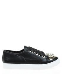 Women's black embellished sneakers