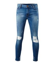 Halle blue cotton blend jeans